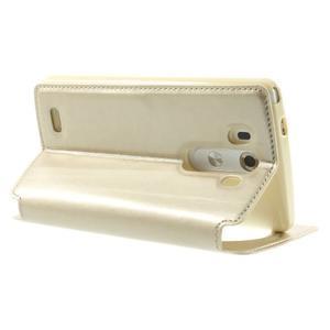 Roar peněženkové pouzdro s okýnkem na LG G3 - zlaté - 4