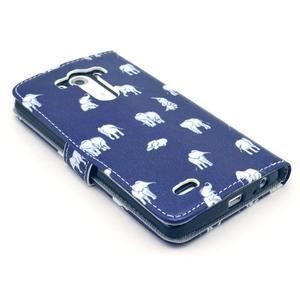 Obrázkové pouzdro na mobil LG G3 - sloníci - 4