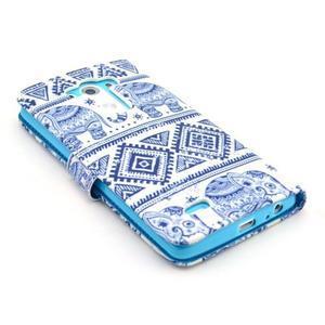 Obrázkové pouzdro na mobil LG G3 - modří sloni - 4