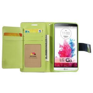 Luxusní PU kožené pouzdro na mobil LG G3 - tmavěmodré - 4