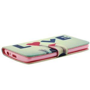 Obrázkové koženkové pouzdro na mobil LG G3 - love - 4