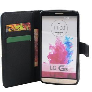 Obrázkové koženkové pouzdro na mobil LG G3 - policie - 4