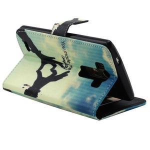 Obrázkové koženkové pouzdro na mobil LG G3 - láska - 4
