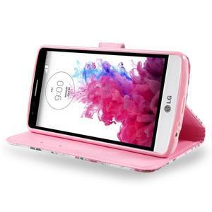 Motive koženkové pouzdro na LG G3 - květiny - 4