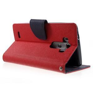 Cross PU kožené pouzdro na LG G3 - červené - 4