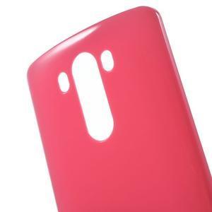 Lesklý gelový obal na LG G3 - červený - 4