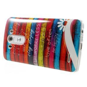 Gelový kryt na mobil LG G3 - barvy dřeva - 4