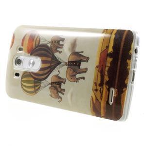 Gelový kryt na mobil LG G3 - sloni - 4