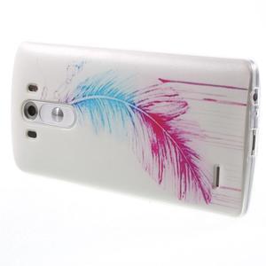 Silks gelový obal na mobil LG G3 - peříčko - 4