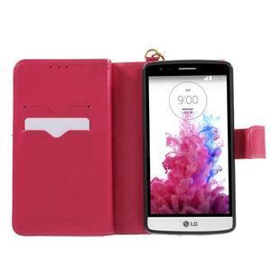 Patrové peněženkové pouzdro na mobil LG G3 - rose - 4