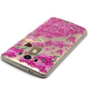 Průhledný gelový obal na LG G3 - šaty z růží - 4
