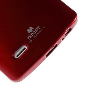 Odolný gelový obal na mobil LG G3 - vínově červený - 4