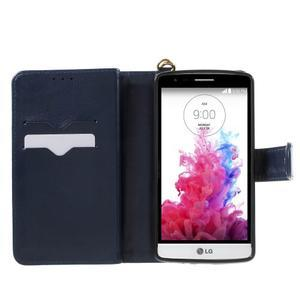 Patrové peněženkové pouzdro na mobil LG G3 - tmavěmodré - 4