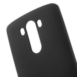 Matný gelový obal na LG G3 - černý - 4