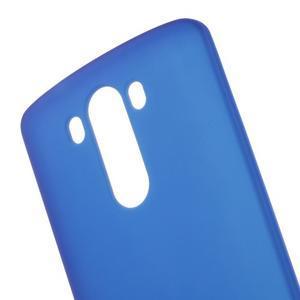 Matný gelový obal na LG G3 - tmavěmodrý - 4