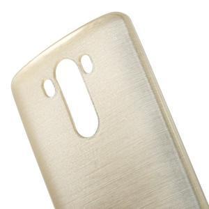 Brush gelový obal na LG G3 - champagne - 4