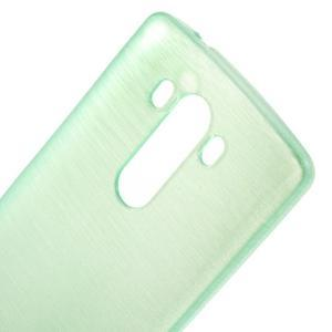 Brush gelový obal na LG G3 - cyan - 4