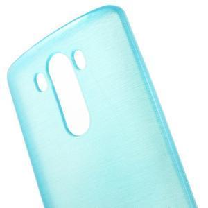 Brush gelový obal na LG G3 - modrý - 4