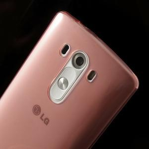Ultratenký slim obal na mobil LG G3 - červený - 4