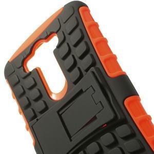 Outdoor odolný obal na mobil LG G3 - oranžový - 4