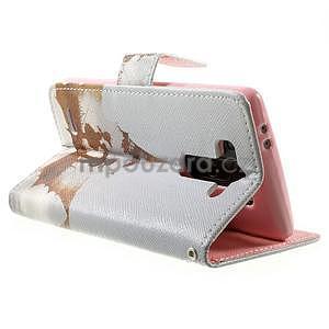 Zapínací peněženkové pouzdro pro LG G3 s - láska - 4