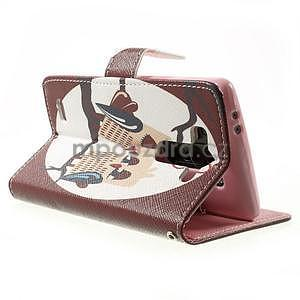 Zapínací peněženkové pouzdro pro LG G3 s - zamilovaní ptáčci - 4