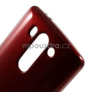 Odolný gelový obal na LG G3 s - tmavě červený - 4