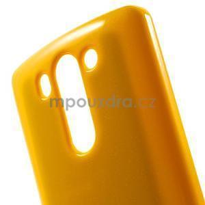 Odolný gelový obal na LG G3 s - oranžový - 4