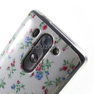 Gelový obal na LG G3 s - kytičky - 4