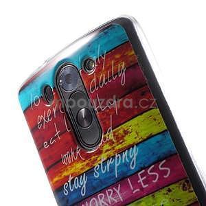 Gelový obal na LG G3 s - barevná cesta - 4