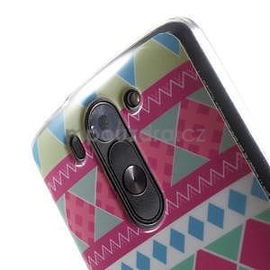 Gelový obal na LG G3 s - geometrické tvary - 4
