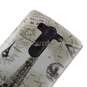 Ultra slim 0.6 mm gelový obal LG G3 s - Eiffelova věž - 4