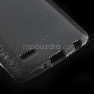 Broušený gelový obal na LG G3 s - šedý - 4