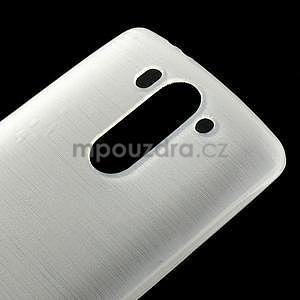 Broušený gelový obal na LG G3 s - bílý - 4