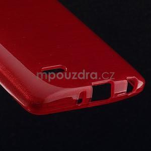 Broušený gelový obal na LG G3 s - červený - 4