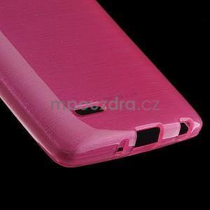Broušený gelový obal na LG G3 s - rose - 4