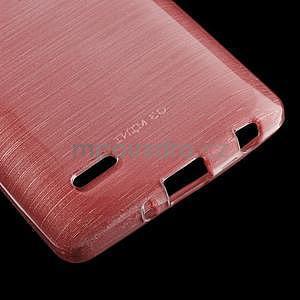 Broušený gelový obal na LG G3 s - růžový - 4
