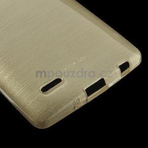 Broušený gelový obal na LG G3 s - zlatý - 4