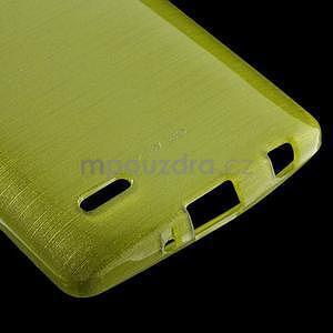 Broušený gelový obal na LG G3 s - zelený - 4