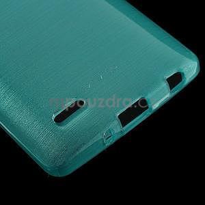 Broušený gelový obal na LG G3 s - tyrkysový - 4