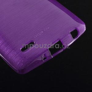 Broušený gelový obal na LG G3 s - fialový - 4