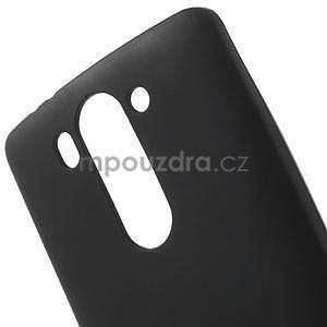 Černý matný gelový kryt LG G3 s - 4
