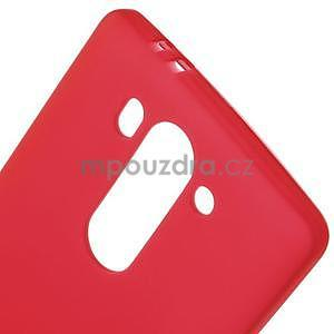 Červený matný gelový kryt LG G3 s - 4