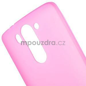 Rose matný gelový kryt LG G3 s - 4