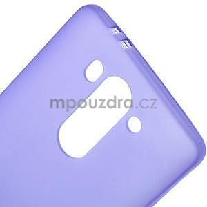 Fialový matný gelový kryt LG G3 s - 4