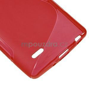S-line červený gelový obal na LG G3 s - 4