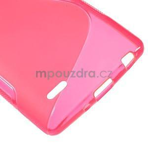 S-line rose gelový obal na LG G3 s - 4