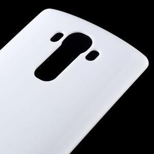 Lesklý gelový obal na LG G4 - bílý - 4