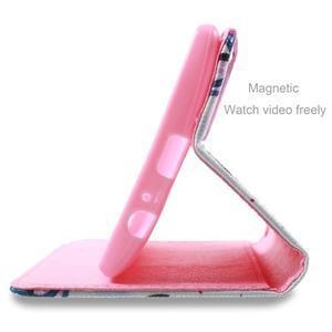 Call peněženkové pouzdro na LG G4 - fialový květ - 4