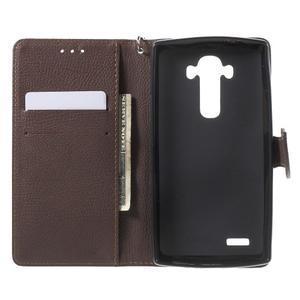 Leaf peněženkové pouzdro na mobil LG G4 - černé - 4